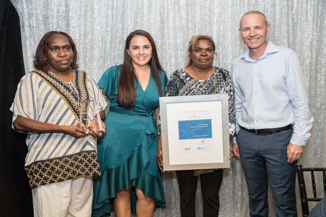 Onslow Family Support program leaders holding OCCI award