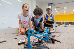 Wirra Coding club group photo with robots