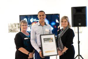 Group shot of education attainment award