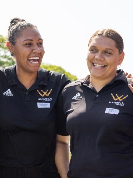 josie janz-dawson and stacey mourish laughing