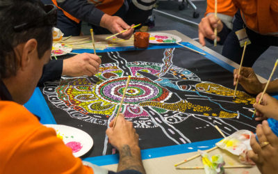 Building partnerships through art